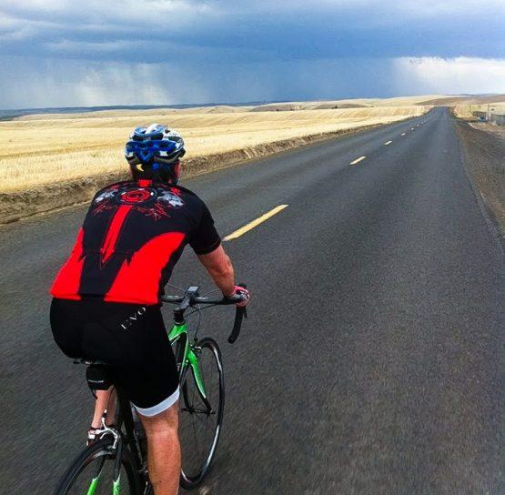 Biker on Colombia Gorge Bike tour
