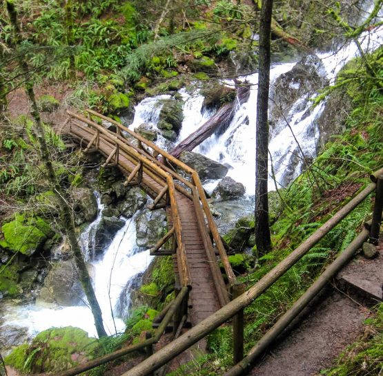 River crossing on the Columbia Gorge Hiking tour