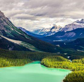 Mountains on the Glacier-Banff-Jasper Bike Tour