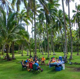Lunch on Hawaii Big Island Bike Tour