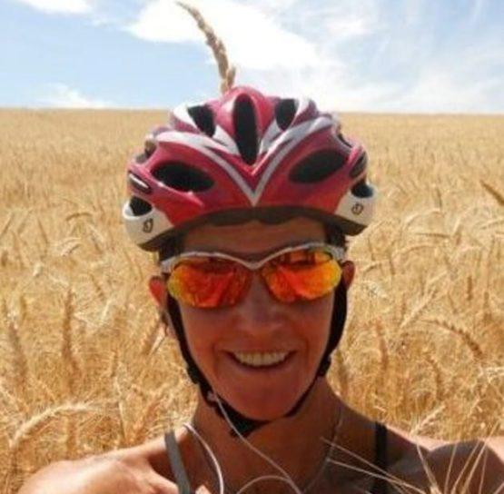 Biker selfie on the International Selkirk Loop Bike Tour