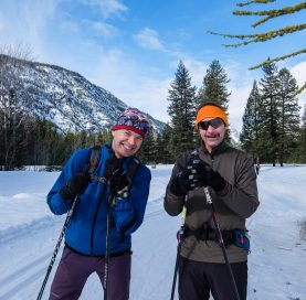 Skiers on Methow Cross-Country Ski Tour