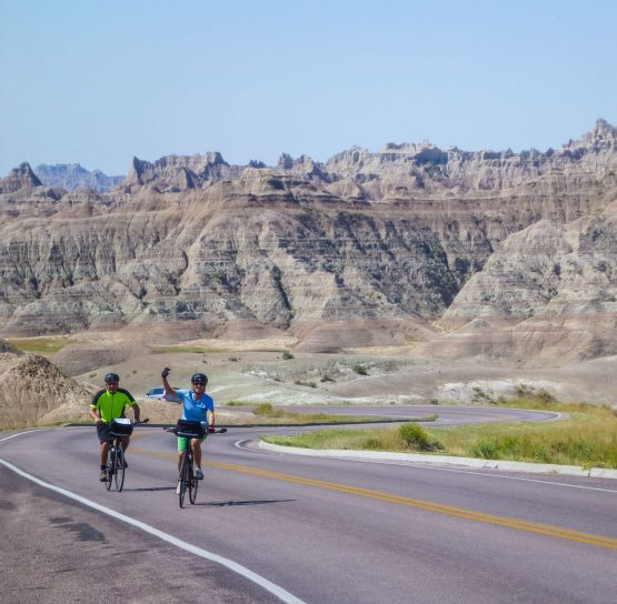 Road cycling on Mt. Rushmore and Badlands tour