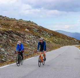 Bikers on Norway Classic tour