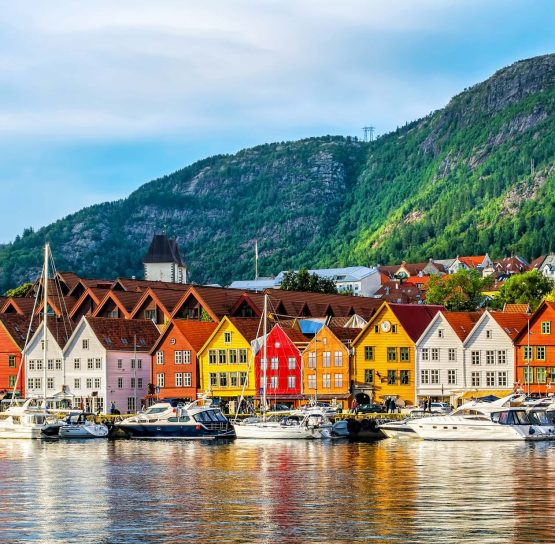 Houses by water on Norway Classic Plus