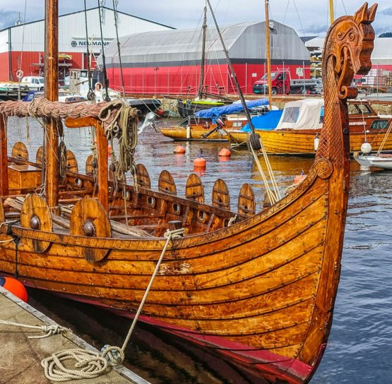 Viking boat on Norway Classic tour
