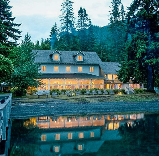Lake Crescent Lodge on the Olympic Discovery Trail tour