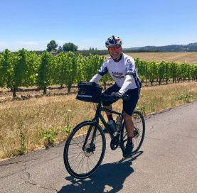 Biker on Oregon Wine Country Tour