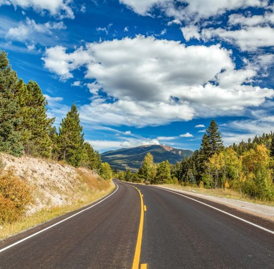 Scenic road on the Santa Fe-Taos Bike Tour