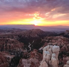 Sunset on the Southern Utah National Parks tour