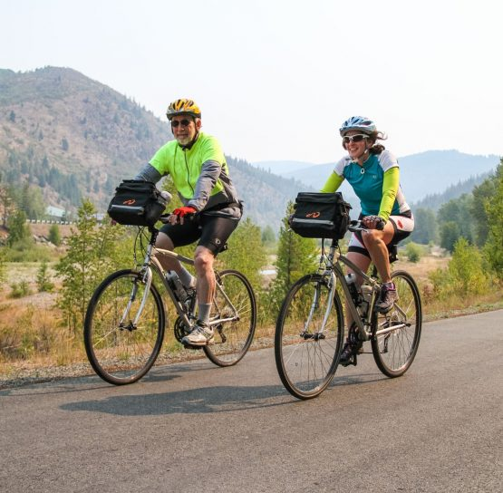 Bikers on Trail of the Coeur d'Alenes tour