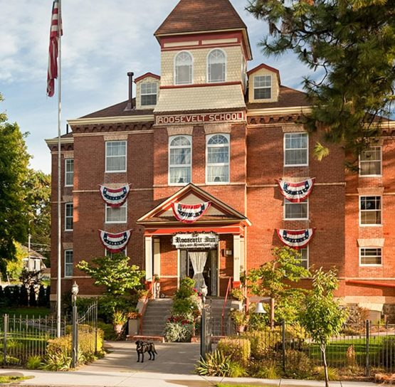 Roosevelt School on Trail of the Coeur d'Alenes tour