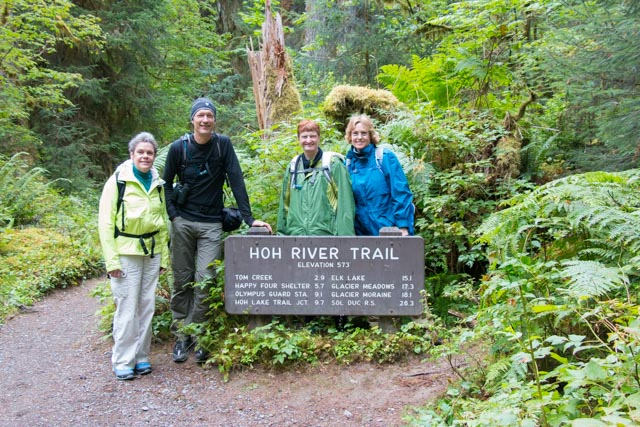 Hoh River Trail, Olympic Peninsula, Bicycle Adventures' Olympic National Park Hiking Tour. Photo: Chad Maurer