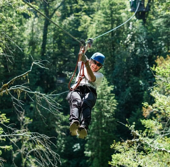 Zip lining on the Chile Lakes & Volcanoes tour