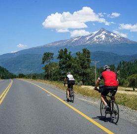 Bikers on the Chile Lakes & Volcanoes tour