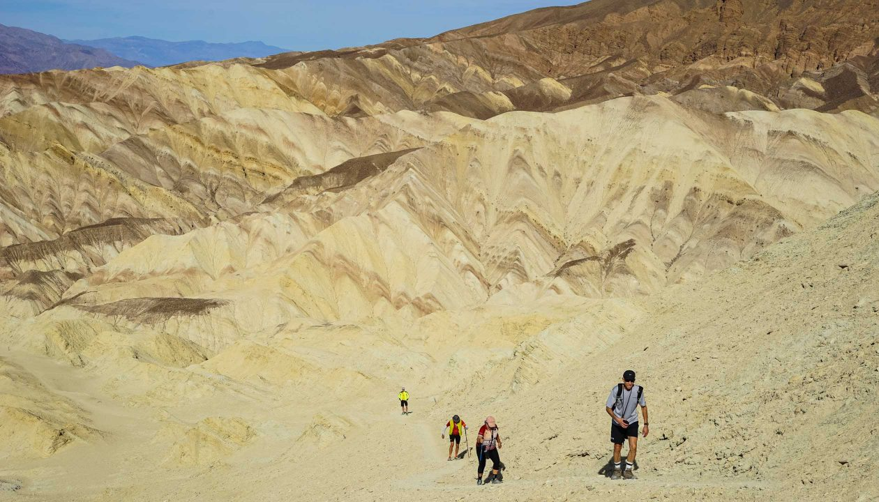 Hikers in Death Valley National Park