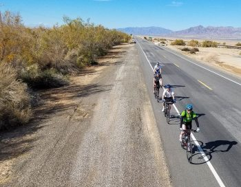 Bikers on the Palm Springs Joshua tour